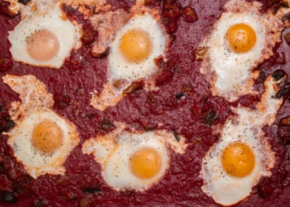 Simple Sheet Pan Shakshuka Main