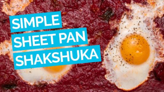 Simple Sheet Pan Shakshuka Main