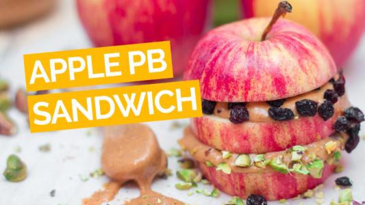 Apple Peanut Butter Sandwich (Kid Friendly) video yellow