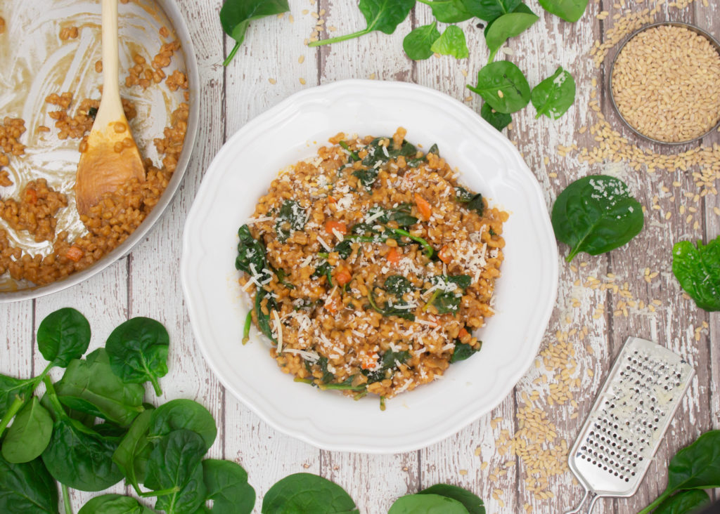 Spinach & Barley Risotto Main