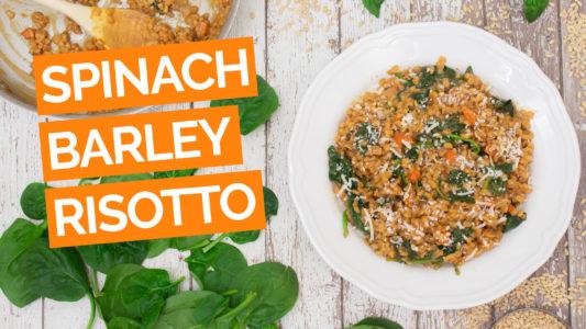 Spinach & Barley Risotto video orange
