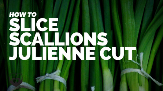 How to Slice Scallions Julienne Cut VIDEO
