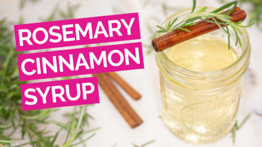 Rosemary Cinnamon Simply Syrup video pink