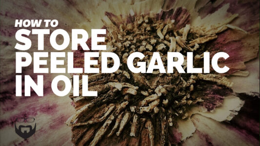 How to Store Peeled Garlic in Oil Video