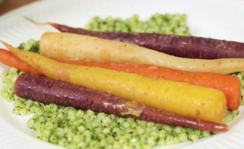 Braised Carrots & Kale Pesto Couscous Header