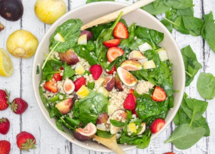 Fig, Strawberry & Spinach Salad Main