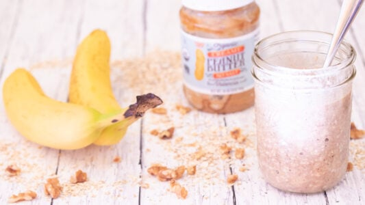 Peanut Butter Jar Pumpkin Spice Overnight Oats Video