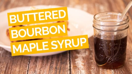 Buttered Bourbon Maple Syrup video yellow