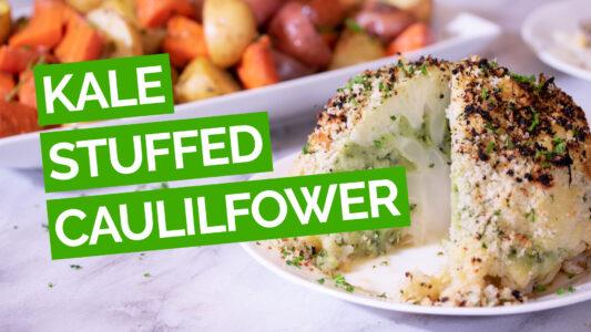 Kale-Stuffed Cauliflower & Potatoes video green