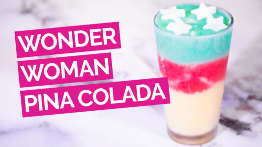 Wonder Woman Pina Colada Video pink