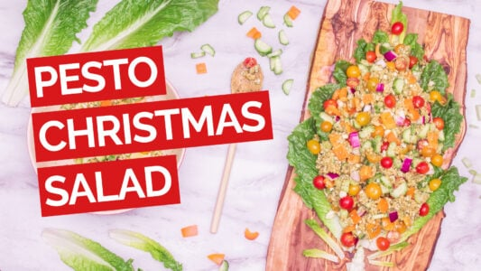 Christmas Salad with Pesto & Couscous Video red