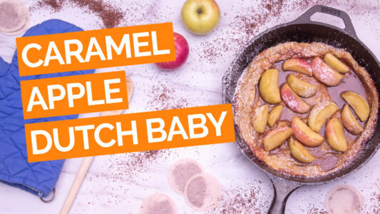 Double Caramel Apple Dutch Baby video orange