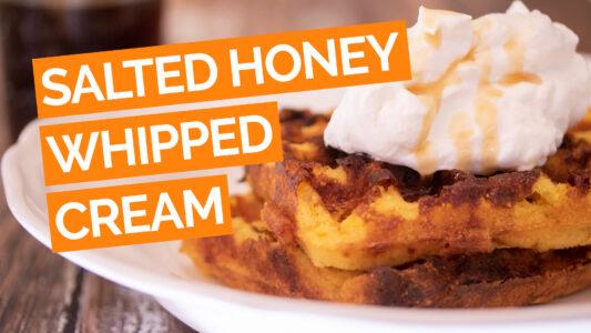 Salted Honey Whipped Cream video orange