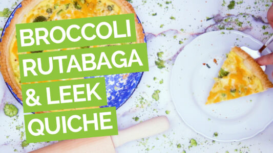 Broccoli Quiche with Leeks, Rutabaga video green