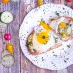 Breakfast Bruschetta with Egg, Avocado & Cucumber Main