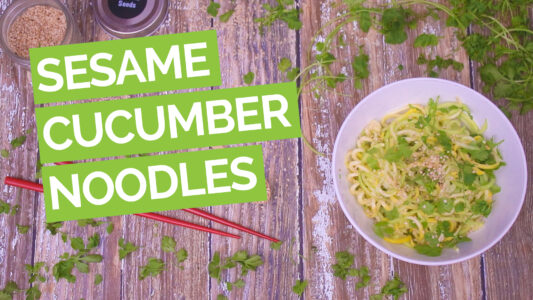Chilled Cucucmer Noodles Video green