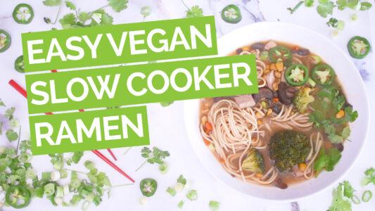 Easy Vegan Crock Pot Ramen video green