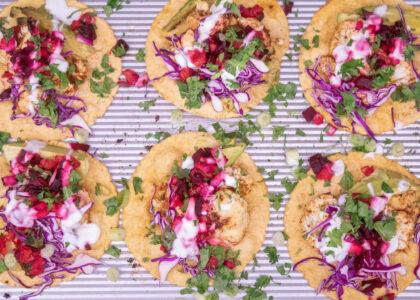 Crispy Cauliflower Tacos with Beet Citrus Salsa Recipe