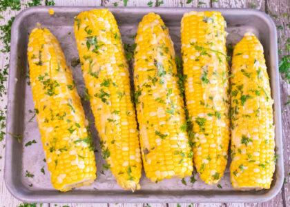 Hot Honey & Garlic Corn on the Cob