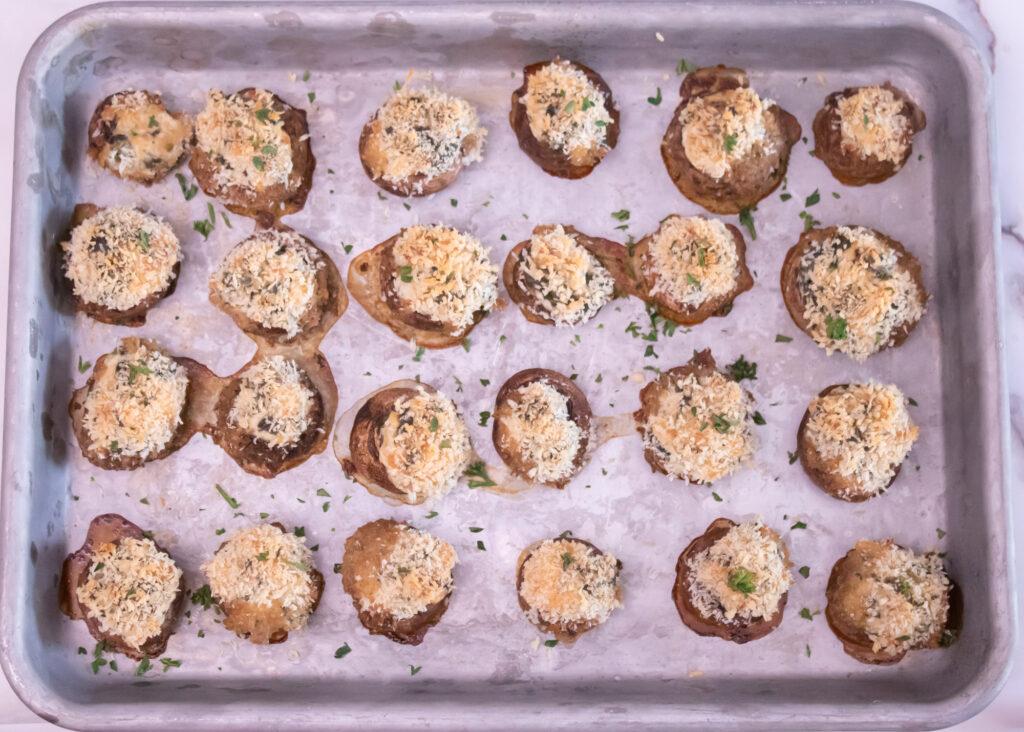 Spinach Artichoke Dip Stuffed Mushrooms Recipe