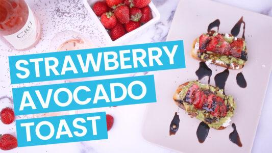 Strawberry Avocado Toast Video - Blue