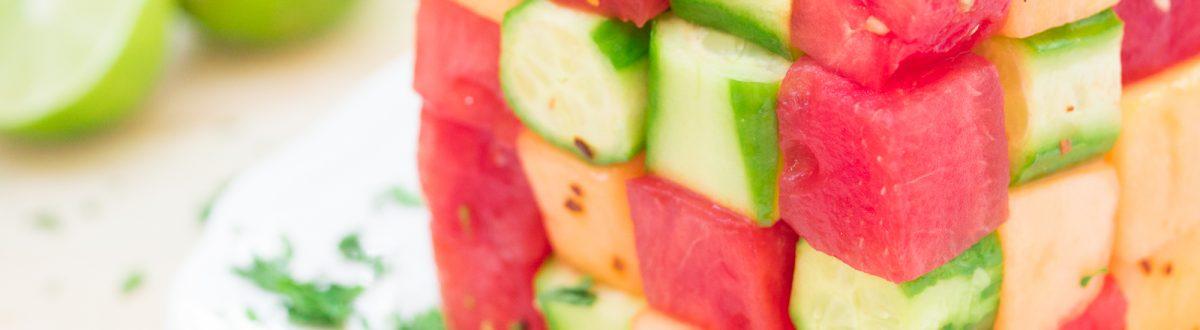 Avocado Watermelon Cucumber Salad