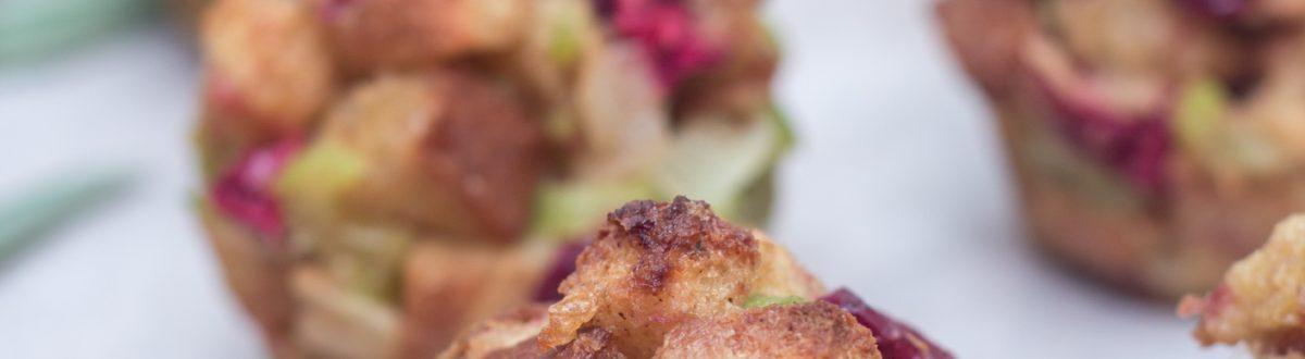 Cranberry Sage Stuffing Muffins 2 3
