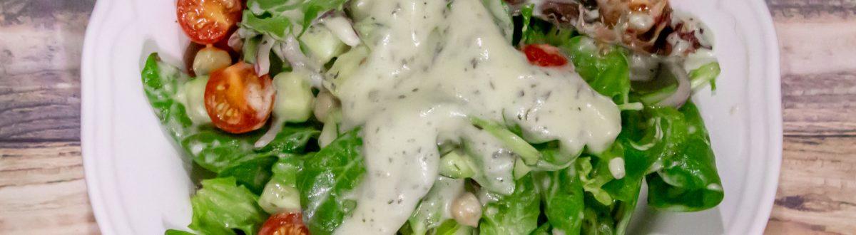 Creamy Lemon Pesto Salad Dressing Vegan Main 1