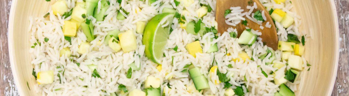 Cucumber Lime Cilantro Rice Salad 1