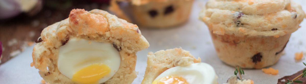 Egg Baked Inside a Muffin 2 3
