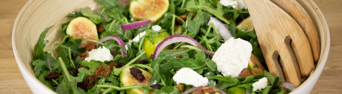Fig Cranberry Salad with Goat Cheese Main 1