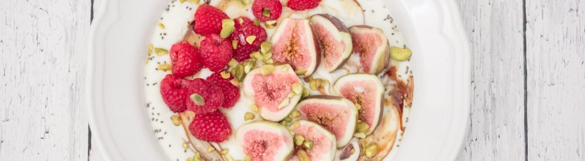 Fig Raspberry Honey Yogurt Bowl 1 3
