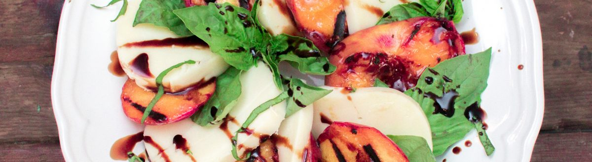 Grilled Peach Caprese Salad 2 3