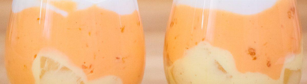 Halloween Yogurt Parfait with Pineapple Oranges 1