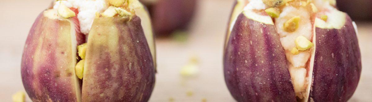 Honey Ricotta Stuffed Figs with Pistachio Image 1