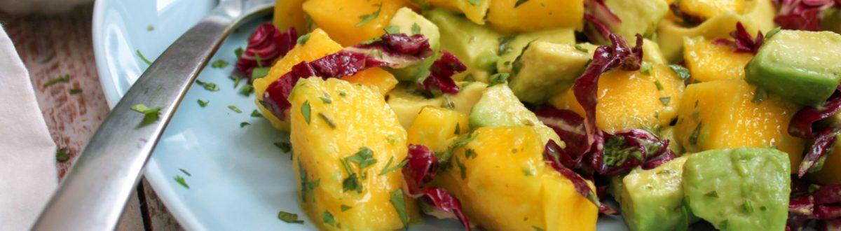 Mango Avocado Salad Close Up 3