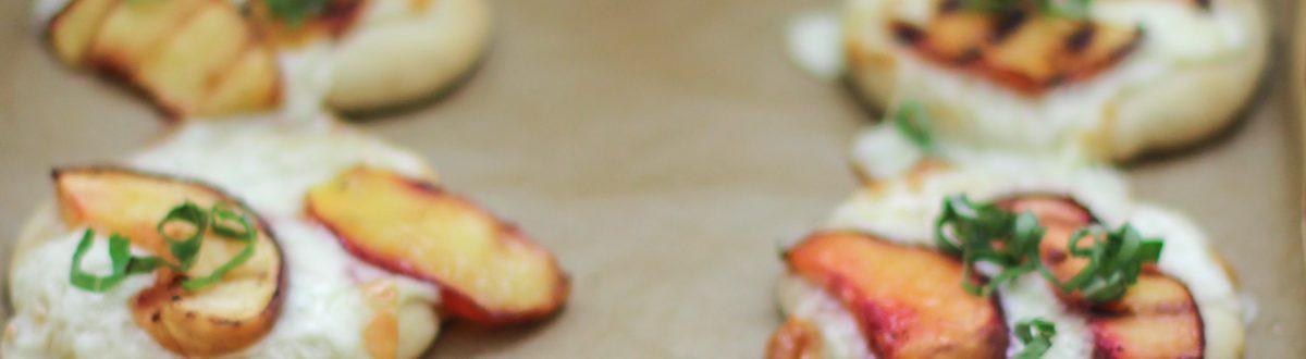 Mini Peach Basil Pizza 2 3