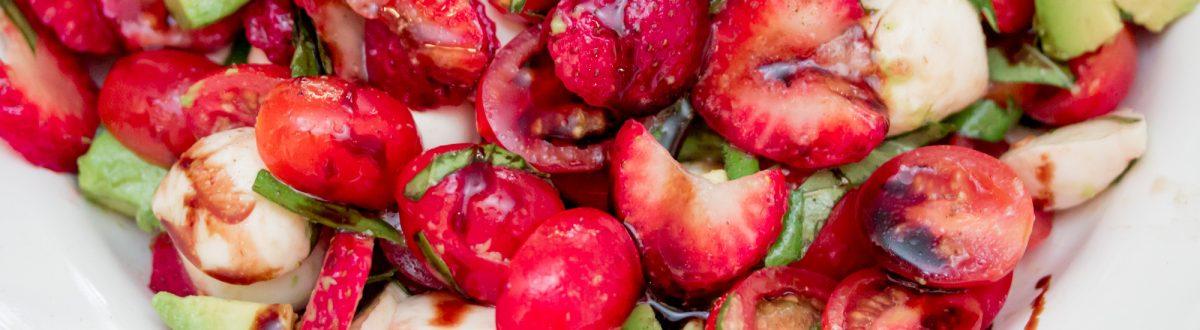 Strawberry Avocado Caprese Salad Recipe Main