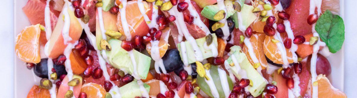 Winter Fruit Salad with Spiced Yogurt Main