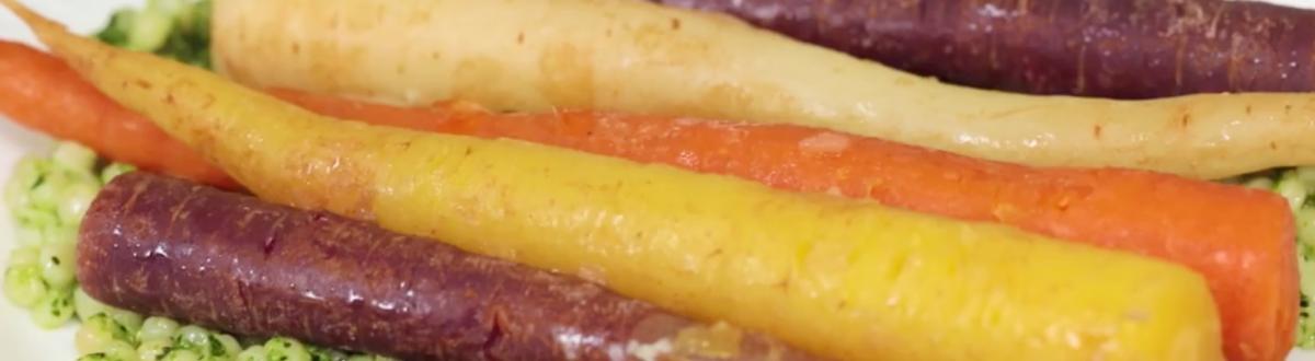 Braised Carrots & Kale Pesto Couscous Header